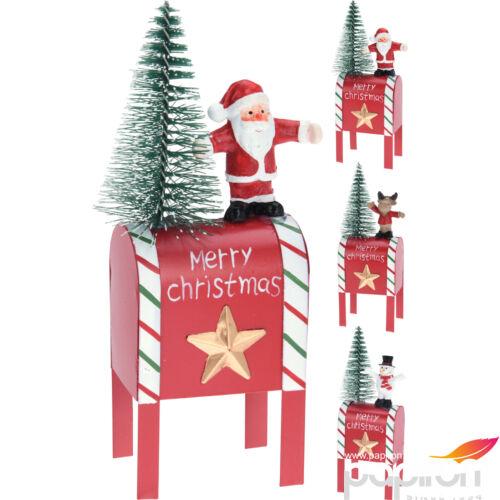 Karácsonyi postaláda 16cm 3féle mintával