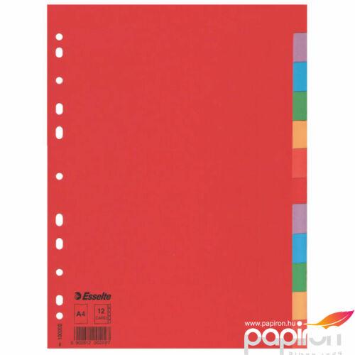 Karton elválasztó 1-12 ECONOMY karton 12 részes A4 Esselte 10db rendelési egység ár 1db-ra
