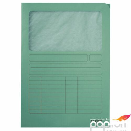 Karton mappa Leitz Ablakos karton v.zöld Leitz 10 db rendelési egység ár 1db-ra