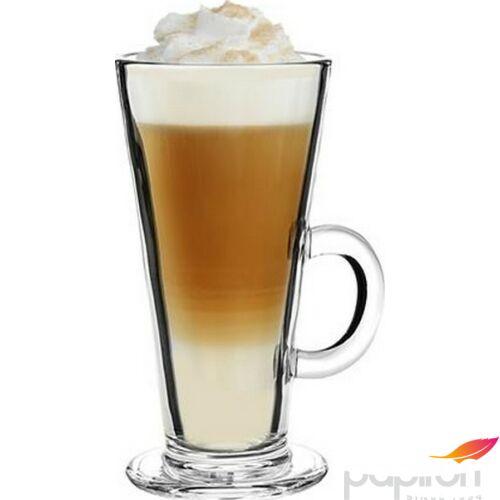 Kávéspohár füllel üveg Lattespohár 6db-os szett, 31 cl