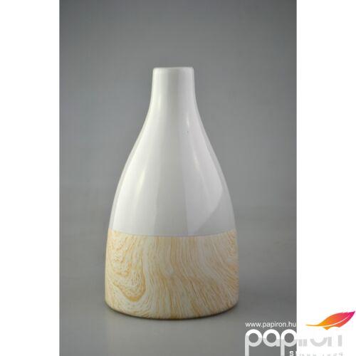 Kerámia váza kúp forma Fehér fa, 11,7x11,7x20,7cm