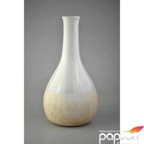 Kerámia váza butella Fehér fa nagy, 12,5x12,5x23,8cm
