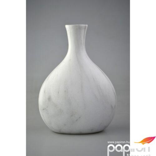 Kerámia váza butella Márvány, 14,4x8,1x19,5cm