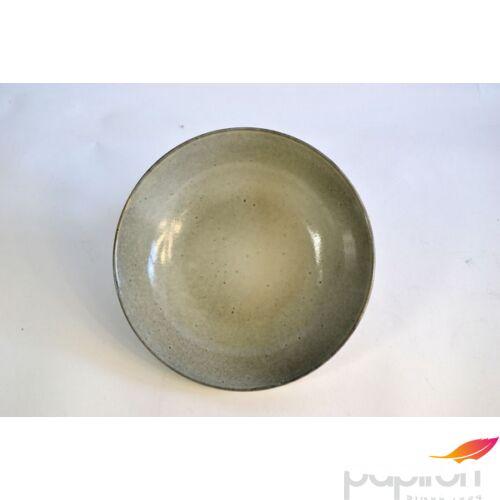 Kerámia tányér leveses Kőhatású, ÁTM.: 22,8CM M:5,5CM