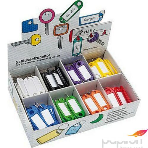 Kulcsbiléta műanyag Wedo 8különböző színben 200db-os készlet