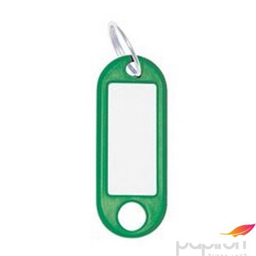 Kulcsbiléta műanyag zöld