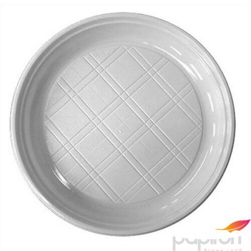 Műanyag lapos tányér 20,5cm 50db/csomag Műanyag evőeszközök