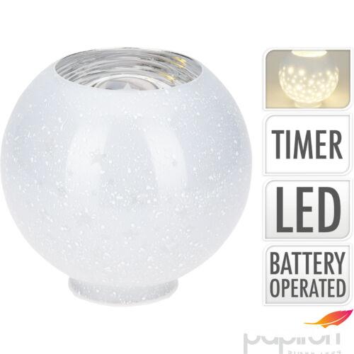Égősor Led dekoráció világító búra 10 leddel 14,5cm
