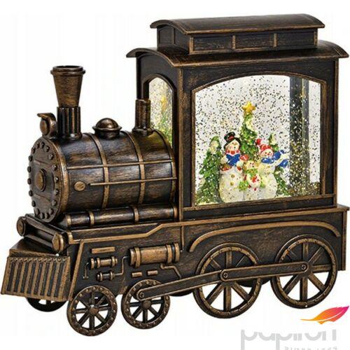 Mozdony világítással zenével 2 23x19x8cm glitteres lokomotív