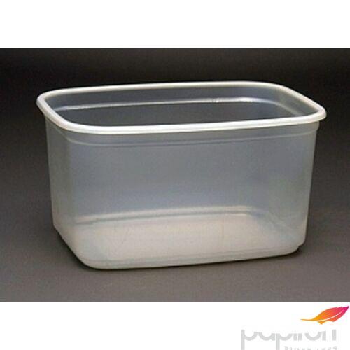Műanyag Svédtál 750ml PP tető nélkül, szögletes