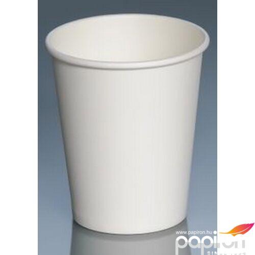 Papír pohár 2dl fehér meleg italos 100db/csomag