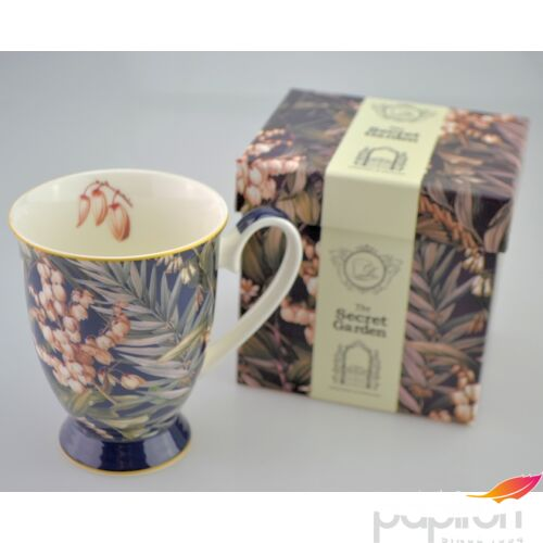Porcelán bögre 300ml-es Yucca mintás bögre 8,5x10,5cm-es díszdobozos finom porcelán