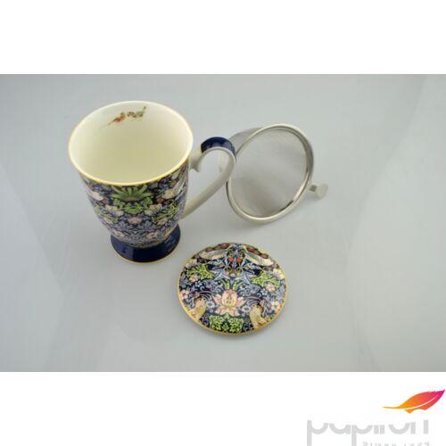 Porcelán bögre 300ml Szűrős, William Morris eper