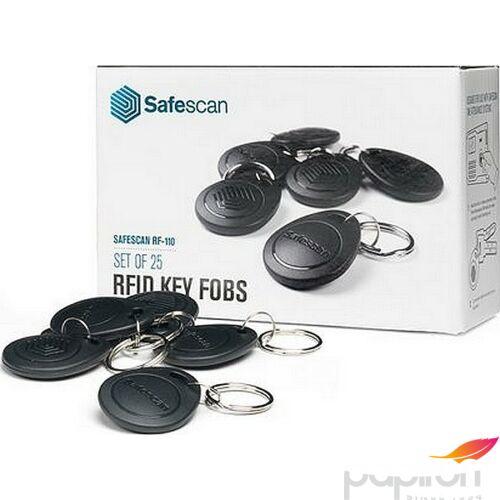 RFID kulcs Safescan RF-110 UBSCTA8010 beléptetőrendszerhez, fekete 25 db