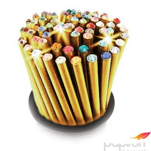 Swarovski ceruza arany testű 2 Világos Lazac Kristállyal Made With Swarovski Elements