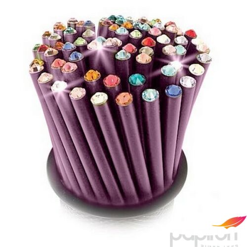 Swarovski ceruza lila testű 20 Élénk Narancs Kristállyal Made With Swarovski Elements