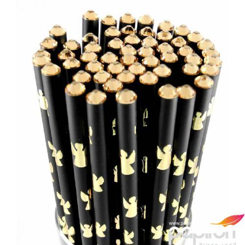 Swarovski Zötzl fekete ceruza Mintás Swarovski kristállyal díszített MADE WITH SWAROVSKI ELEMENTS