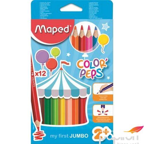 Színes ceruza 12 Maped Color'Peps Jumbo háromszögletű 12színű Írószerek MAPED 834010