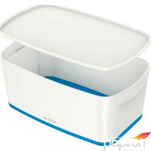 TároLó doboz fedővel kicsi LEITZ MyBox fehér-kék