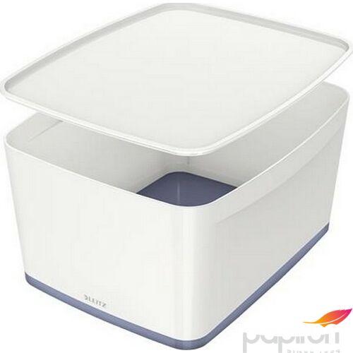 TároLó doboz fedővel nagy LEITZ MyBox fehér-szürke