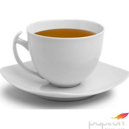 teáskészlet porcelán teáscsésze+alj fehér, 45cl, 4db-os szett