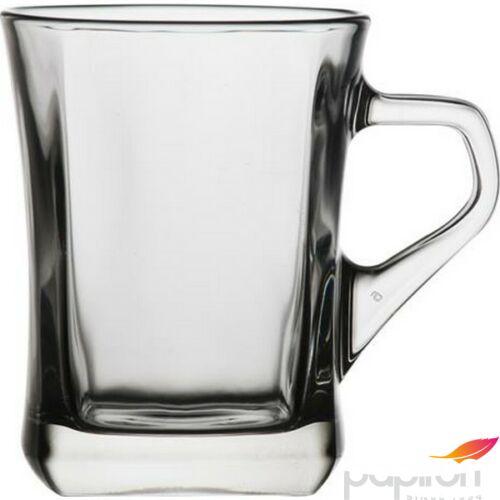 Kávéspohár füllel üveg 6 db-os szett, 25cl