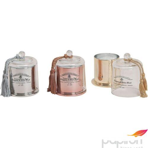 Elegáns gyertya üvegben 20' parfüm illattal 13x10cm